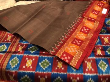 Pasapalli Border and Aanchal Khandua Silk Saree without Blouse Piece