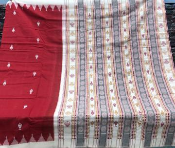 Kotpad motifs Inspired thick cotton Sambalpuri Saree with Blouse Piece