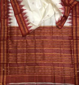 Traditional Khandua Silk Saree without Blouse Piece