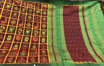 Beautiful Nabakothi Silk Saree with Blouse Piece