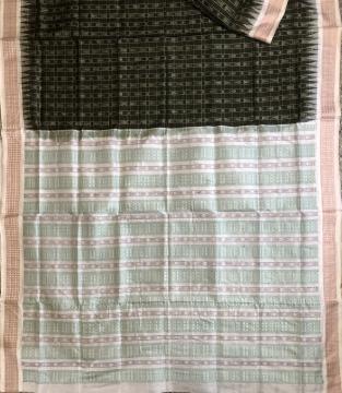 Traditional Hazarbuti Silk Saree with Blouse Piece