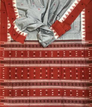 Kotpad motifs inspired thick cotton Samabalpuri Cotton Saree with Blouse Piece