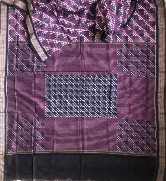 Double Ikat Pasapalli Cotton Saree without Blouse Piece