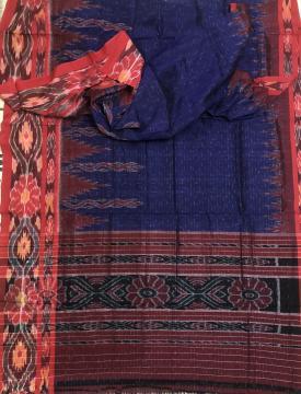 All over Ikat work Nuapatana Cotton Saree without Blouse Piece
