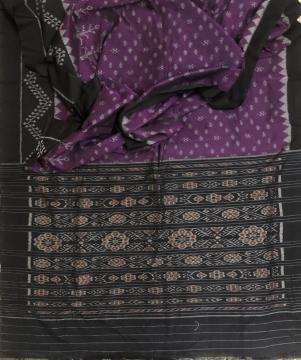 All Over Ikat weave Nuapatana Cotton Saree without blouse piece