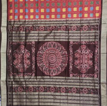 Traditional Aswini Silk Saree in Maroon with Blouse Piece