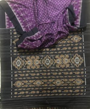 Traditional Motifs Nuapatana Cotton Ikat Saree without Blouse Piece
