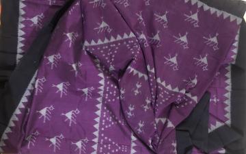 Tribal motifs Ikat fabric