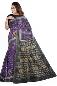 Traditional Aanchal all over Ikat work Nuapatana Cotton Saree without blouse piece