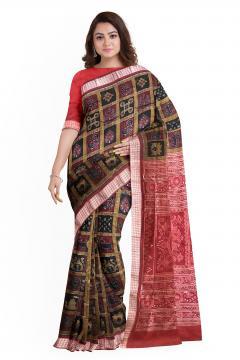Intricately woven Sambalpuri Nabakothi Silk Saree with Blouse Piece