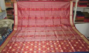 Orissa Handloom Pasapalli and Tribal Motif Silk Saree