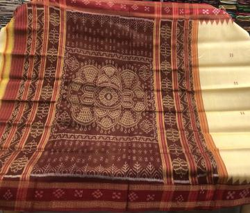 Pasapalli border traditional Khandua Silk Saree without Blouse Piece