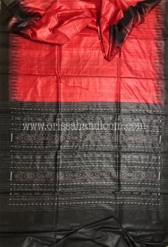 Temple border Gopalpur Tussar Ikat Saree with Blouse Piece