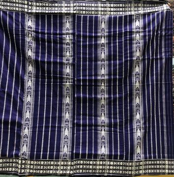 All over body work Traditional Cotton habaspuri sarees with Blouse Piece