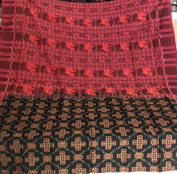 Pasa motifs all over Ikat weave Cotton Saree with Blouse piece