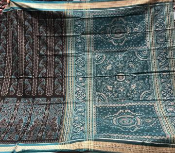 Traditional Aanchal All over Ikat weave Cotton Saree with Blouse Piece