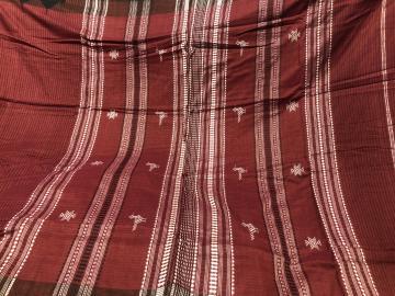 Bird motifs body Checks Natural dyed Cotton tusar mix light weight Kotpad Saree with Blouse Piece