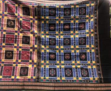 Traditional Double Ikat Cotton Utkallaxmi Saree without blouse piece
