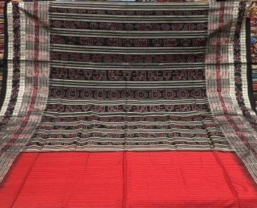 Traditional Sachipar Silk Saree with Blouse Piece