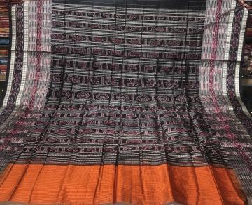 Body checks Traditional Sachipar Silk Saree with Blouse Piece