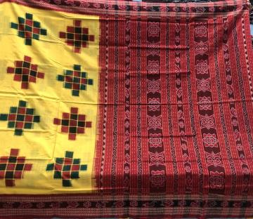 Traditional border and Aanchal Cotton Pasapalli saree with Blouse piece