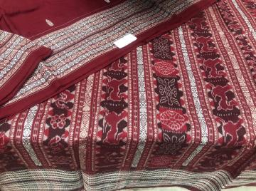 Master weaver s creation fish motifs thick border Cotton Saree with Blouse piece
