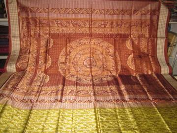 Orissa Handloom full body and aanchal ikat Saree