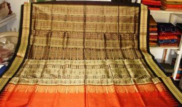 Odishi Handloom Bomkai Patli Saree -2