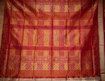 Odisha Handloom White Gorgeous Bomkai Saree Sari