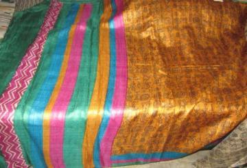 Tribal design Tussar Saree with Blouse piece