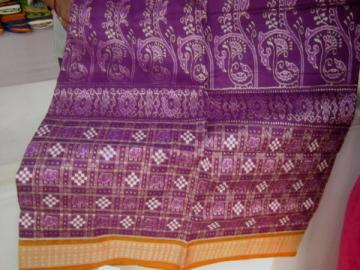 Orissa Handloom beautiful motifs ikat saree with Blouse piece
