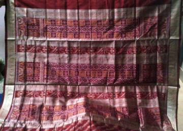 Odisha Handloom Ikat Body and Aanchal Saree Sari