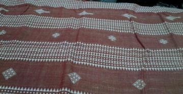 Fish Motif Kotpad Cotton Tussar Saree Sari