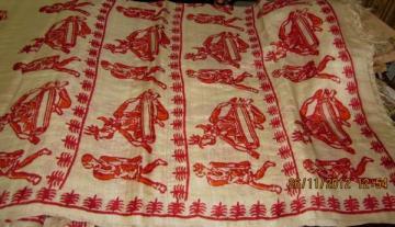 Indian Handloom Tribal Print Tussar Saree sari