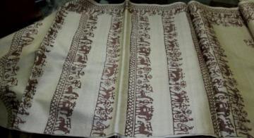 Indian Handloom Tribal Block Print Tussar Saree sari