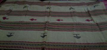 Odisha handloom Henna Green Kotpad Saree