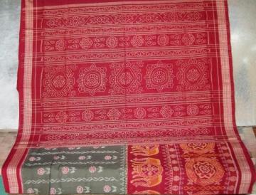 Odisha Handloom Traditional Motifs in Ikat work Saree