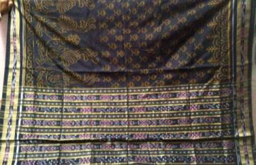 Peacock Design ikat Weaving Beautiful Saree Sari