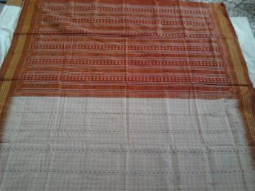 Orissa Handloom Body Stripe Ikat Saree Sari