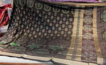 Odisha Handloom Beautiful Peacock Ikat work Saree Sari