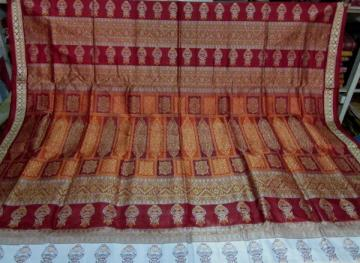 Orissa Handloom Kalash Design Bomkai Saree