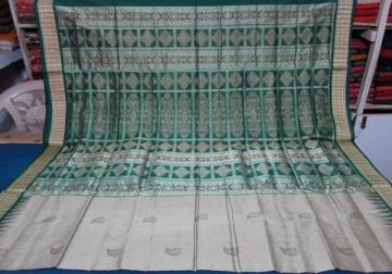 Odisha Handloom Leaf Design Bomkai Saree