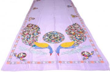 Ganjapa over peacock design Khadi Silk Saree