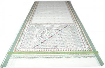 Tribal Design Kerala Cotton Half Circle Triangle Pattarn Body Saree