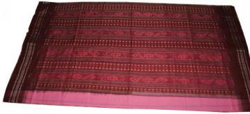 Orissa Handloom Pink Maroon Ikat Saree Sari