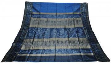 Peacock Design Aanchal Pasapalli Border Ikat Bomaki Saree
