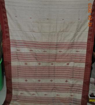 Fish Motif Kotpad Cotton nTassar Mix Saree