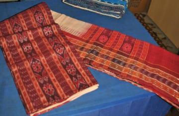 Maroon Ikat work Unstitched salwar suit