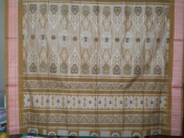 Gorgeous full bomkai work Cotton Saree With Blouse Piece