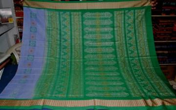 Gorgeous Bomkai n Ikat combination Orissa Handloom Cotton Saree with Blouse Piece